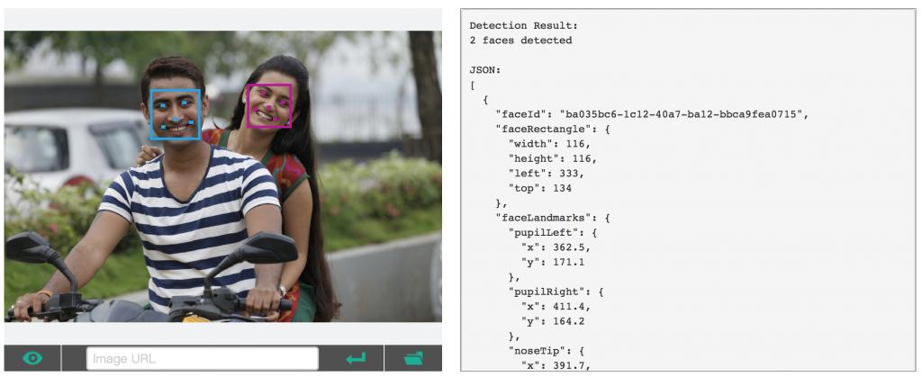 Faces API in use