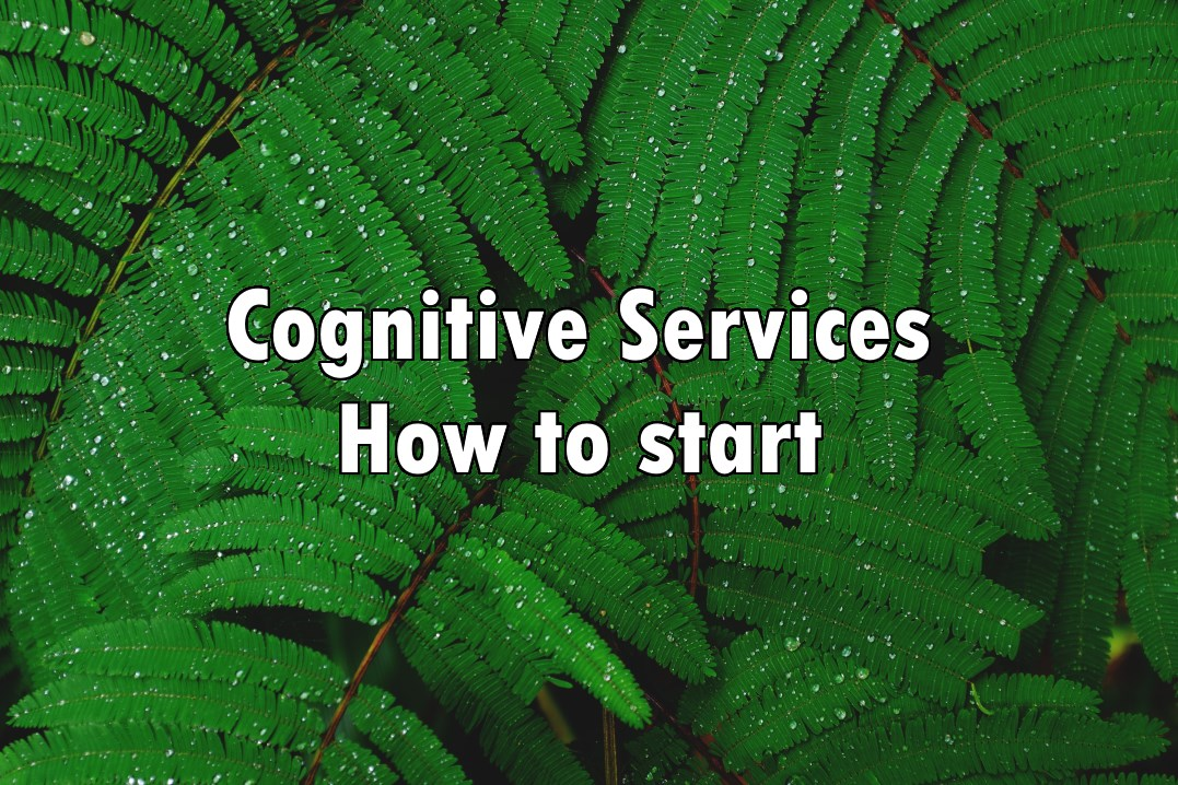 "Polypodium with text ""Cognitive Services How to start"""